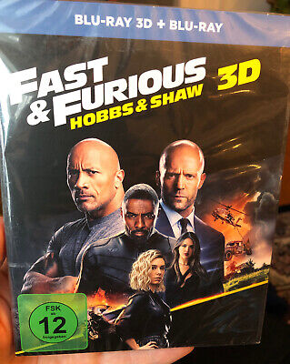 FAST & FURIOUS HOBBS AND SHAW 3D 2D Blu-ray PRE-ORDER Experienced US Seller