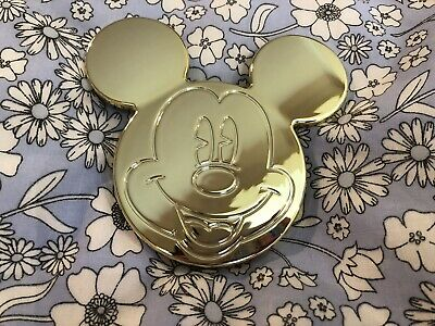 PRIMARK Limited Edition Christmas Mickey Mouse Disney Compact Mirror Gold BNWT