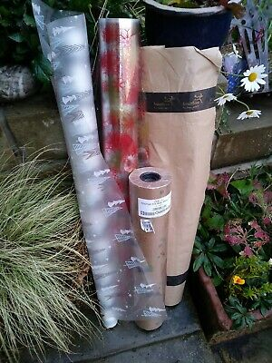Florists Wrapping Paper Cellophane Rolls x 4