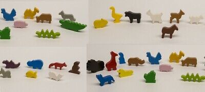 wooden animal meeple for board game rpg make expansion for catan carcassonne etc