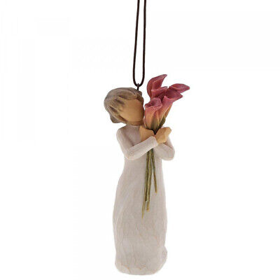 New & Boxed Willow Tree Hanging Ornament 'Bloom' #27909