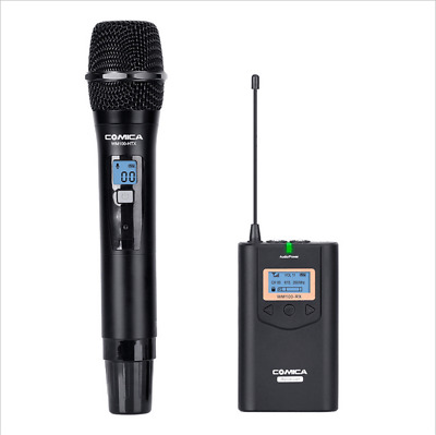 CoMica 48-Channel UHF Wireless Handheld Microphone System for Camera Smartphone