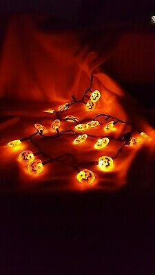 20 Orange Blinking Halloween Jack O Lantern Pumpkin LED Fairy String Light decor