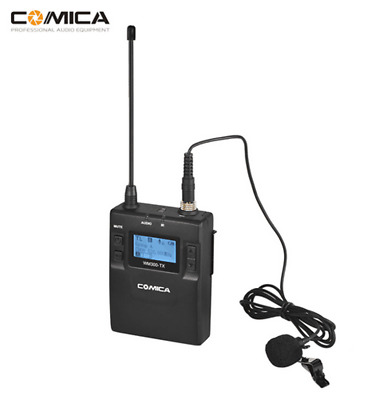 CoMica UHF 96-Channel Wireless Metal Mic Microphone Transmitter For DSLR Camera