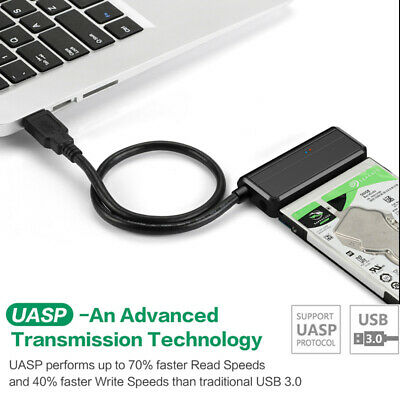 USB 3.0 to SATA Adapter Cable Line UASP 2.5/3.5inch HDD SSD Hard Drive Converter