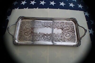 Victorian Tray Silver plate on copper. Francis Howard Sheffield.