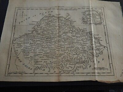 Antique Map A New Map of Haddington Shire Drawn from An Actual Survey by Kitchin