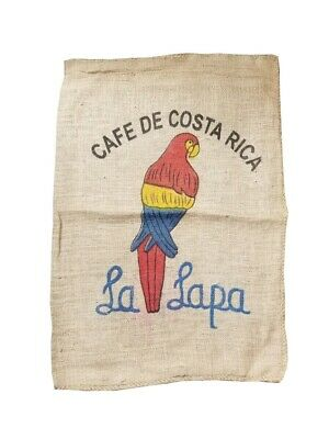 (Lot of 4) Vintage Burlap Authentic Coffee Sacks - Assorted Desings + Sizes