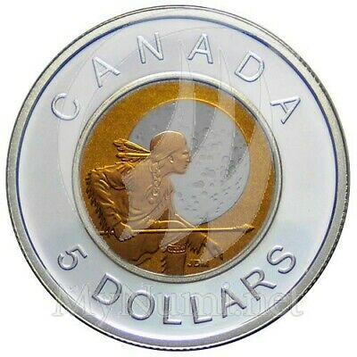 Canada 2011 $5 Silver w// Niobium Hunter/'s Moon BiMetallic Proof