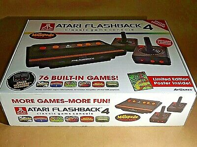 Atari Flashback 4 Launch Edition Black Console with 76 Games! Wireless Controls