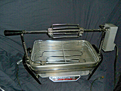 Vintage Farberware SS Open-Hearth Indoor Electric Rotisserie Grill  USA