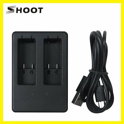 SHOOT XTGP346 Dual Port Slot AHDBT-501 Battery Charger For GoPro Hero 5 Camera