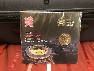 2012 London Olympic Handover Rio 2016 £2 Two Pound Coin Circulated