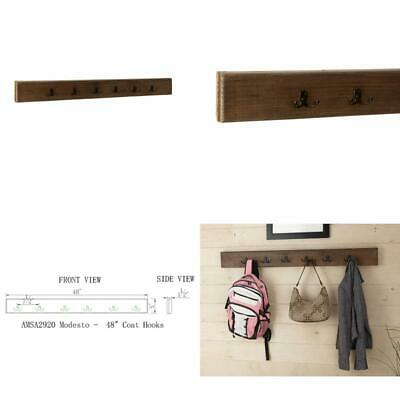 Modesto Rustic Natural Wall Completely Maintenance Efficient Mounted Coat Rack