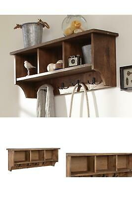 Revive Rustic Natural Wall Completely Maintenance Efficient Mounted Coat Rack