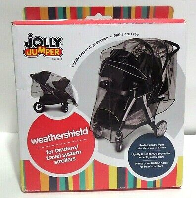 new Jolly Jumper tandem travel system Stroller Weathershield lightly tinted