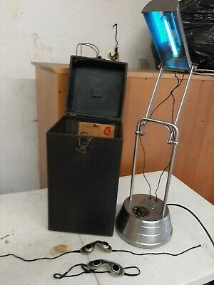 1940s? SUN-KRAFT COLD QUARTZ ULTRAVIOLET RAY OZONE THERAPY LAMP~Model A-1~NICE