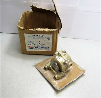 """Leonard 210/TA Thermostatic Water Mixing Valve 1/2"""" Inlets 1/2"""" Outlet 210-SB"""