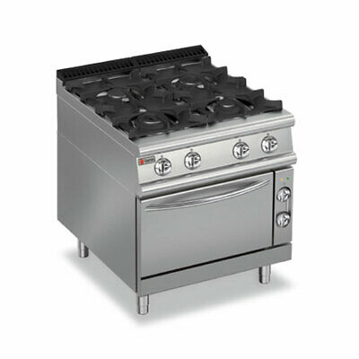 Baron Four Burner Gas Cook Top With Electric Oven