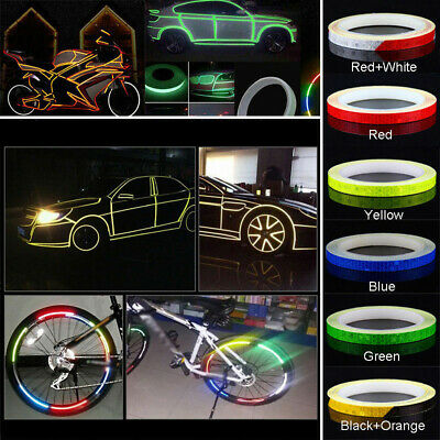 Bicycle Bike Car Motorcycle Reflective Stickers Night 8M Safety C3M8 Tape R Y7B7