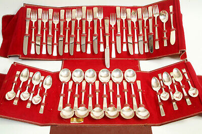 50 PEICES Vintage W.M Rogers MFG. Co EXTRA Plate Silver Plated Flat Wear