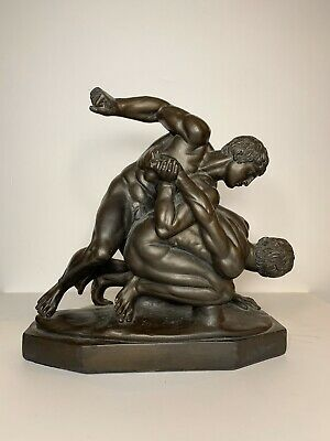 Grand Tour Sculptural Group of Wrestlers