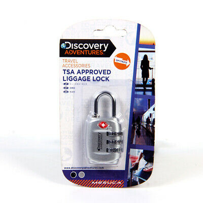 Discovery TSA Approved Luggage Suitcase Locks Combination Padlock for Travel Bag
