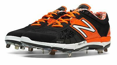 New Balance Low-Cut 3000v2 Metal Baseball Cleat Mens Shoes Black with Orange