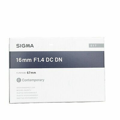 Sigma 16mm F/1.4 DC DN Contemporary Lens for Sony E-mount  Black  16.4mm