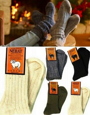 3 Pairs Thick Wool Work Tough Heavy Duty Socks Warm Thermal Hiking Camp gift