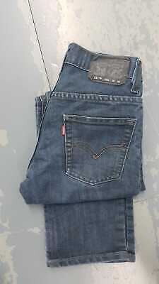 Levi Strauss 511 Slim Fit Red Tab Jean - W26 L26 - Dark Blue
