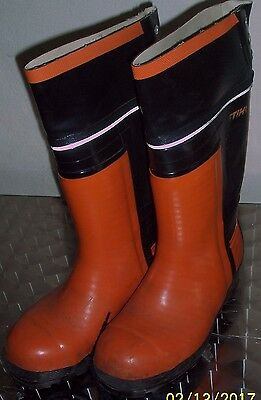 Stihl rubber chainsaw boots.