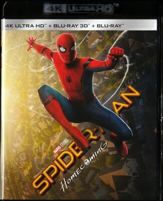 Blu Ray 4K + 3D + 2D : Spider-Man Homecoming - NEUF