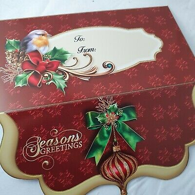 Merry Christmas robin money wallet /Gift card holder Envelope voucher