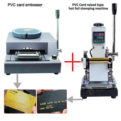 72-Character Manual PVC Card Embossing + Hot Foil Stamping Machine Gold Blocking