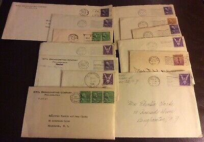 13 1940's letters/greeting cards Clarke family Binghamton NY, birthday etc