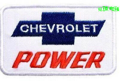 CHEVY POWER PATCH EMBROIDERED IRON ON vintage retro muscle car drag racing suit
