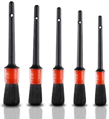 LJNH Auto Car Detailing Brush Set - 5 Pieces Detail Brushes Cleaning Brushes For