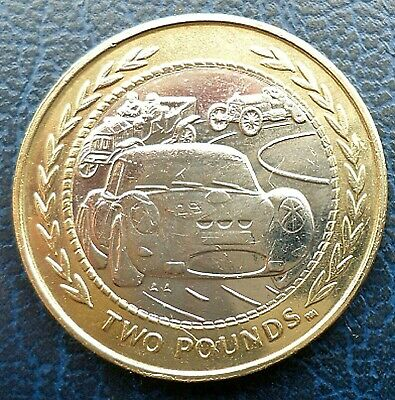 "1998 Isle of Man £2 coin- ""Rally/Vintage Cars""  - Year of Sport"
