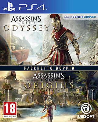 Compilation Assassins Creed Origins + Odyssey PS4 Playstation 4 IT IMPORT