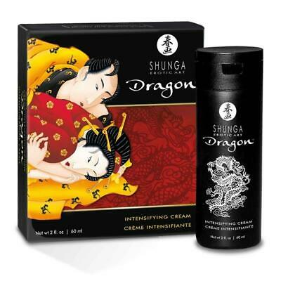 Shunga Crema De Virilidad Masculina Dragon 60 Ml. Intensificador Sexual
