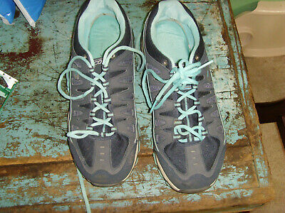 Guc mens size 11 Skechers Memory Foam blue shoes athletic shoes comfy  fall wntr