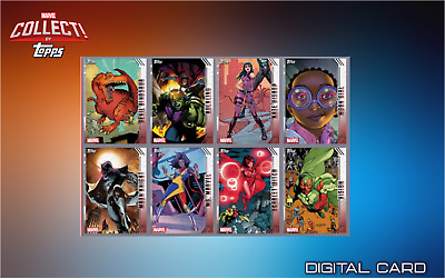 2019 FUTURE FAVORITES FULL SET OF 8 CARDS SERIES 2 Topps Marvel Collect Digital