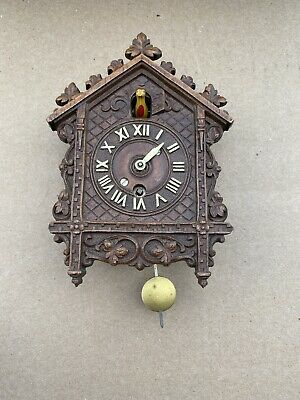 Antique Miniature Cuckoo Clock, Keebler Co Phila PA Untested
