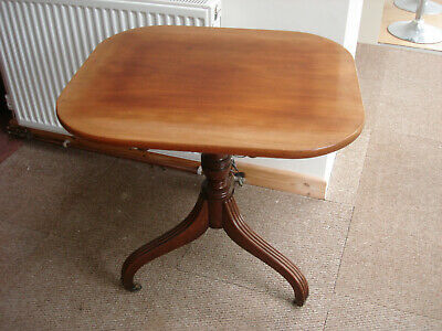 Antique Mahogany Tilt Top Occasional Table  - Flip Up