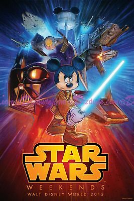 Official Disney Star Wars Weekends 2015 Exclusive Logo Poster Final SWW event #d