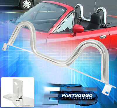 1989-2005 Mazda Miata MX5 JDM Dual Twin Loop Hoop Roll Style Bar Cage Stainless