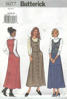 Butterick 3677 Misses' Jumpers 14, 16, 18   Sewing Pattern