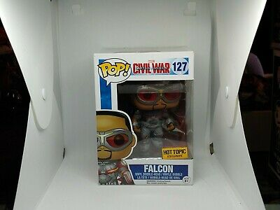 Funko Pop Marvel Falcon 127 Civil War Hot Topic Exclusive Rare