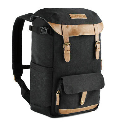 K&F Concept Large Camera Backpack Bag for Canon Nikon Waterpoof with Rain Cover